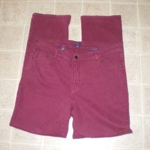 NYDJ Burgundy Stretch Jeans Straight Leg sz14W